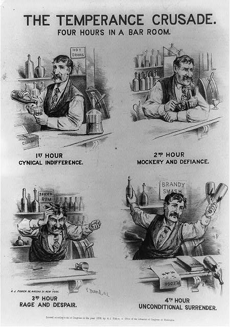 The temperance crusade., four hours in a bar room