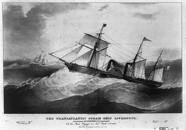 The transatlantic steam ship Liverpool