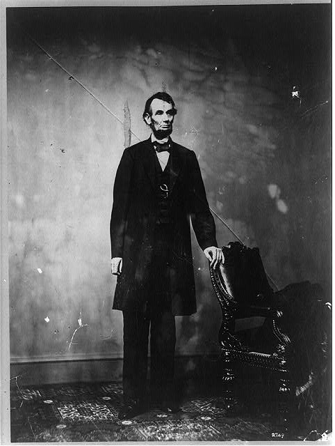[President Abraham Lincoln, full-length portrait, standing]