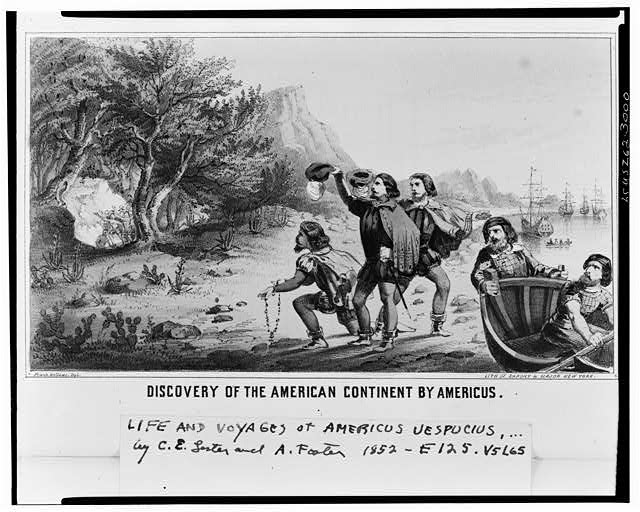 Discovery of the American contintent by Americus