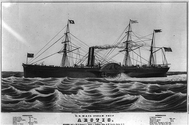U.S. mail steam ship Arctic: Collin's line builders, hull by Wm. H. Brown N.Y. engines by Stillman Allen & Co. Novelty Works N.Y.