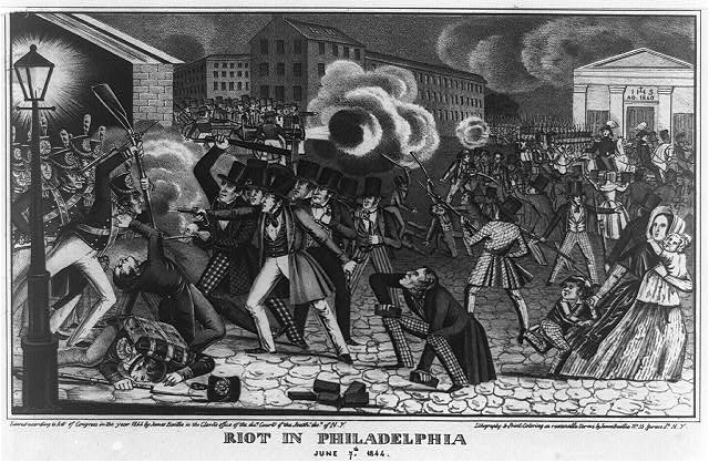 Riot in Philadelphia, June [i.e. July] 7th 1844