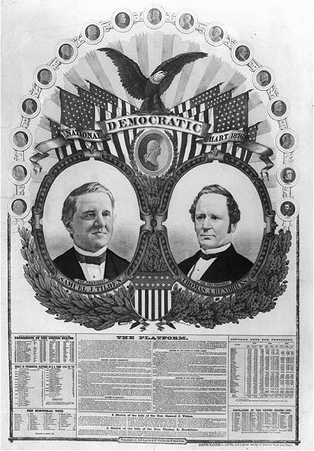 National Democratic chart, 1876--For president, Samuel J. Tilden, for vice president, Thomas A. Hendricks