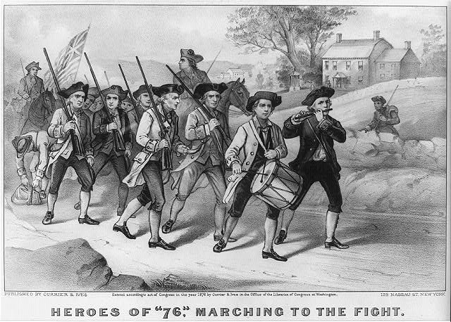 "Heroes of ""76,"" marching to the fight"