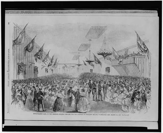 Inauguration ball in the immense building erected for the purpose in Judiciary Square, Washington City, March 4th, 1857