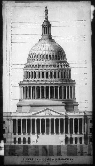 Elevation of dome of U.S. Capitol