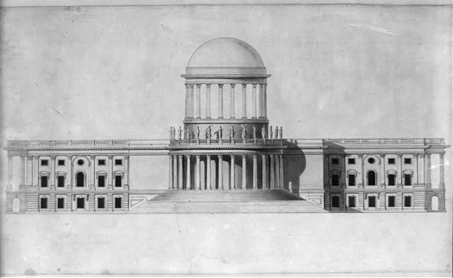 "[United States Capitol, Washington, D.C. West elevation ""High Dome""]"