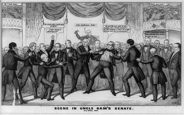 Scene in Uncle Sam&#39;s Senate. 17th April 1850