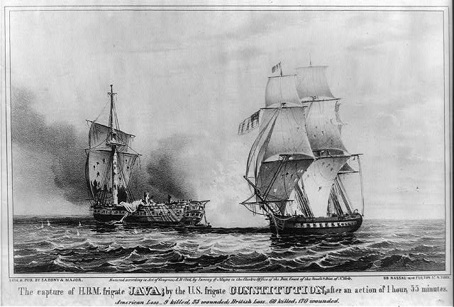 The Capture of HBM. frigate Java by the U.S. frigate Constitution after an action of 1 hour, 55 minutes