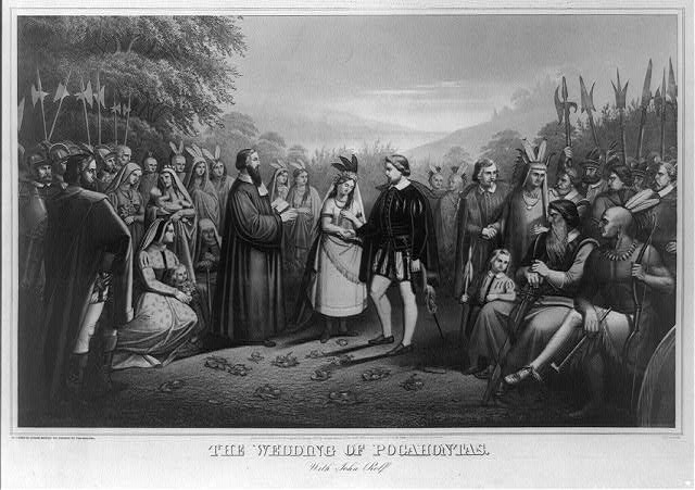 The wedding of Pocahontas with John Rolfe