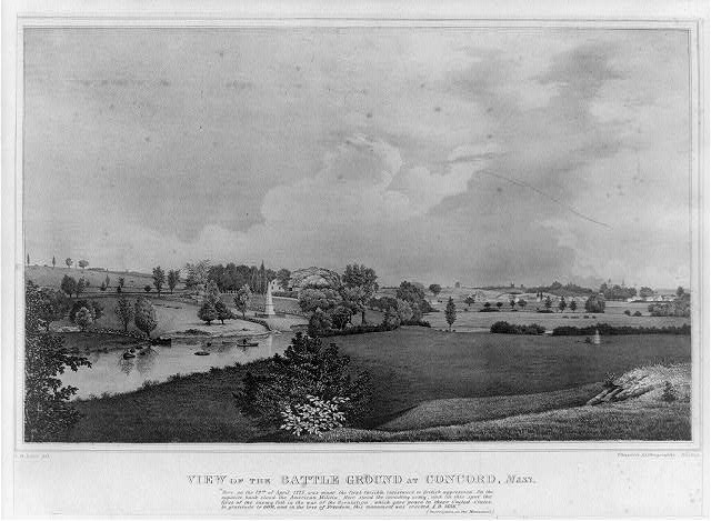 View of the battle ground at Concord, Mass