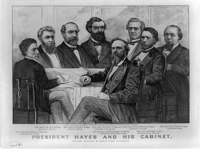 President Hayes and his cabinet