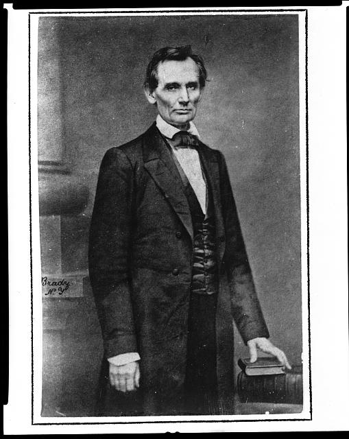 [Abraham Lincoln, candidate for U.S. president, three-quarter length portrait, before delivering his Cooper Union address in New York City]