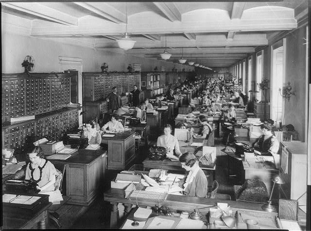 [Library of Congress catalogers at their desks, Library of Congress, Washington, D.C.]