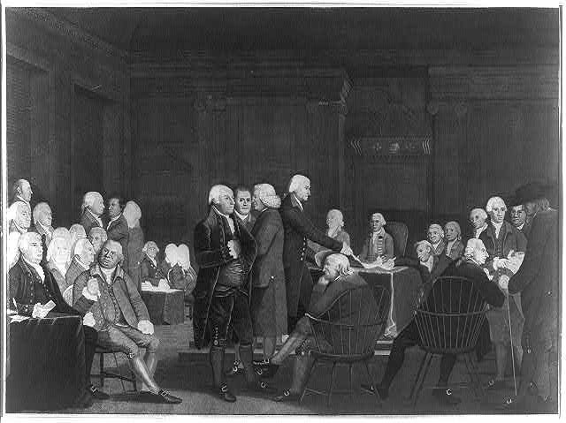 [Congress voting the Declaration of Independence]