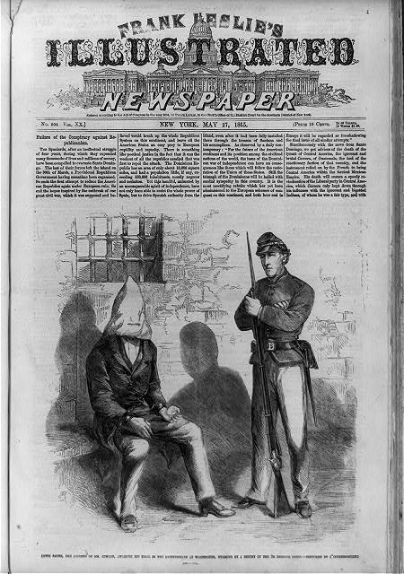 Lewis Payne, the assassin of Mr. Seward, awaiting the trial in the penitentiary at Washington, guarded by a sentry of the 2d Reserve Corps