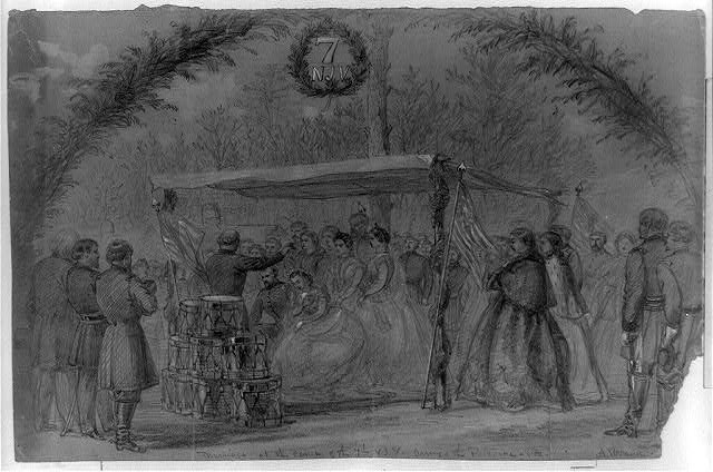Marriage at the camp of the 7th N.J.V. Army of the Potomac, Va