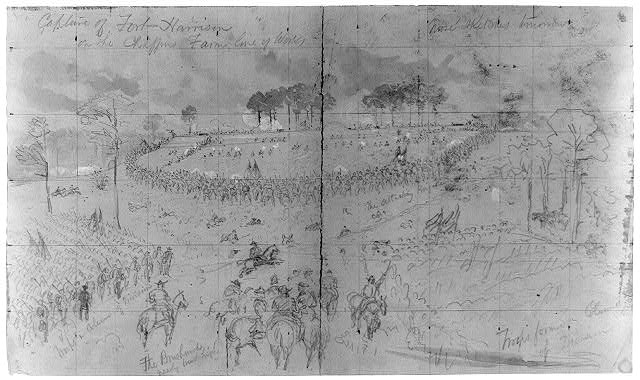 Capture of Fort Harrison on the Chaffins Farm line of Works