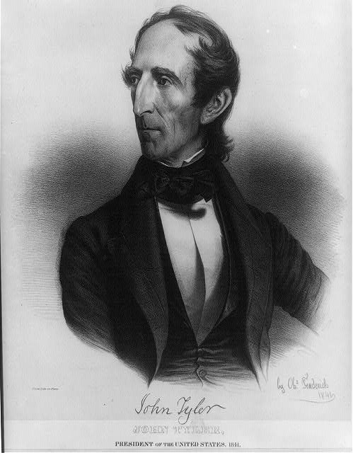 John Tyler, President of the United States, 1841. Born 29th day of March 1790