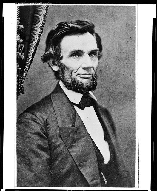 [Abraham Lincoln, last portrait sitting in Springfield, Illinois, before leaving for Washington, D.C., to assume the presidency]