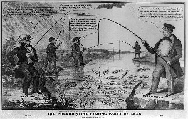 The Presidential fishing party of 1848