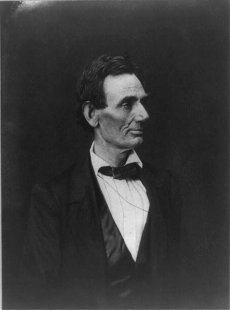 [Abraham Lincoln, presidential candidate, half-length portrait, facing right]