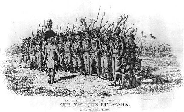 The nations bulwark.  A well disciplined militia