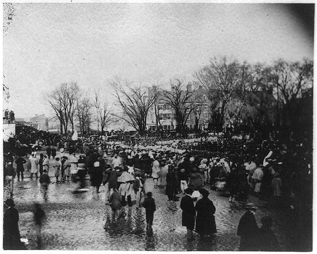 Crowd at Lincoln's second inauguration, March 4, 1865