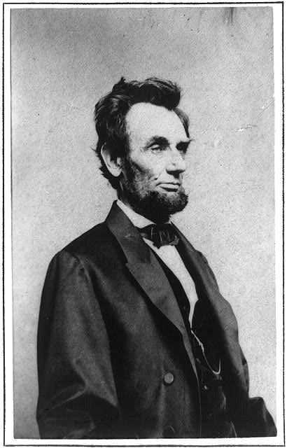 [Half-length portrait of President Abraham Lincoln, facing right]