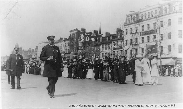 Suffragists' march to the Capitol, Apr. 7, 1913