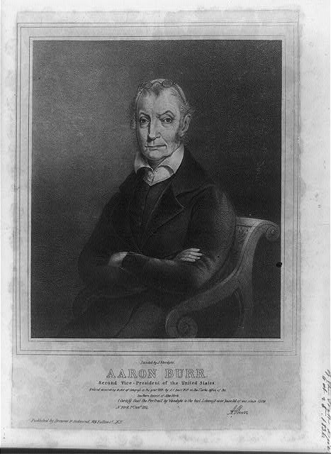Aaron Burr. Second Vice-President of the United States