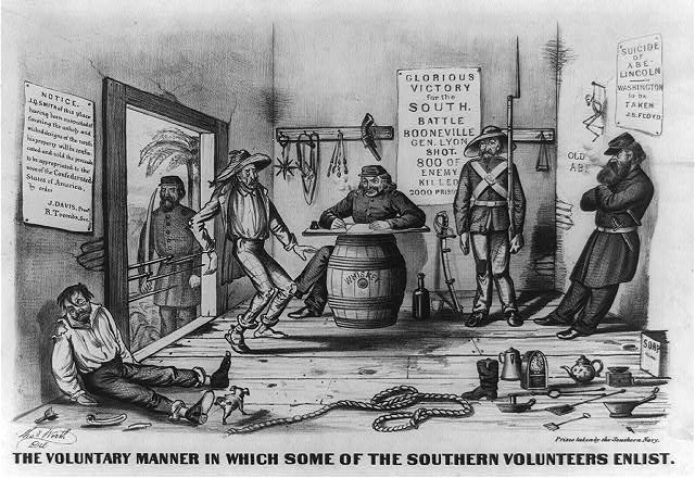 The voluntary manner in which some of the Southern volunteers enlist