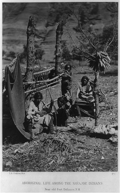 Aboriginal life among the Navajoe Indians. Near old Fort Defiance, N.M.