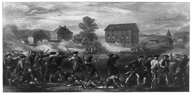 The battle of Lexington