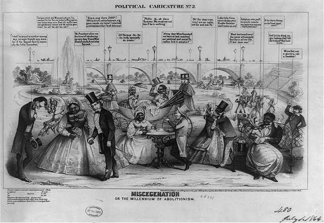 Political caricature. No. 2, Miscegenation or the millennium of abolitionism