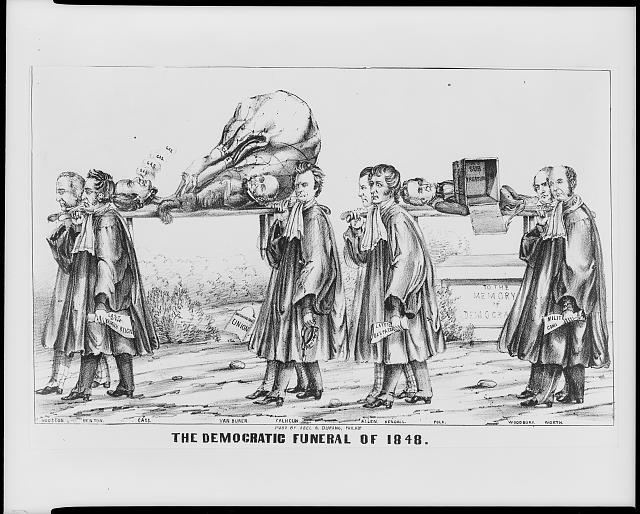 The Democratic funeral of 1848