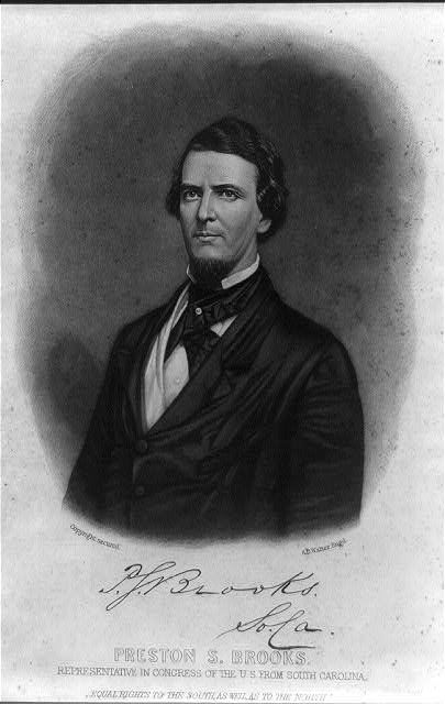 Preston S. Brooks. Representative in Congress of the U.S. from South Carolina
