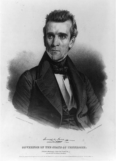 James K. Polk. Governor of the state of Tennessee
