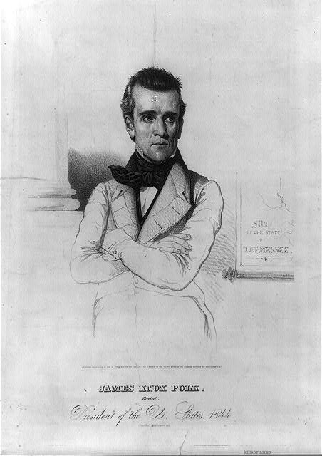 James Knox Polk. Elected President of the U. States. 1844