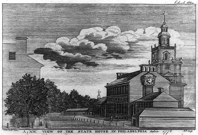 A N.W. view of the state house in Philadelphia taken 1778