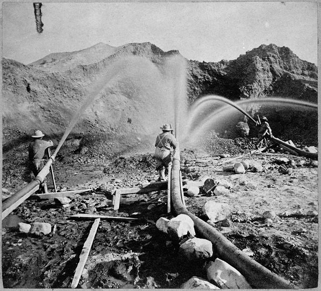 Hydraulic mining near French Corral, Nevada County