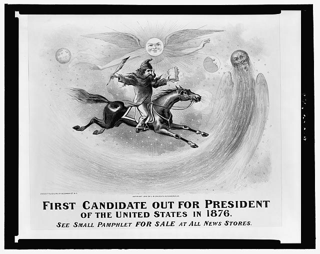 First candidate out for president of the United States in 1876