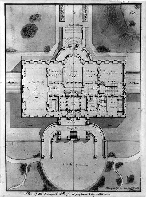 "[The White House (""President's House"") Washington, D.C. Site plan and principal story plan]"