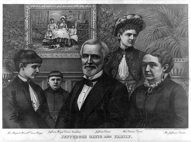 Jefferson Davis and family