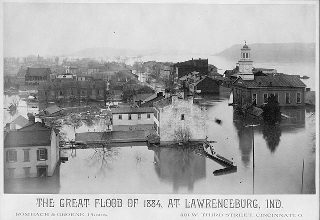 The Great Flood of 1884, at Lawrenceburg, Ind.