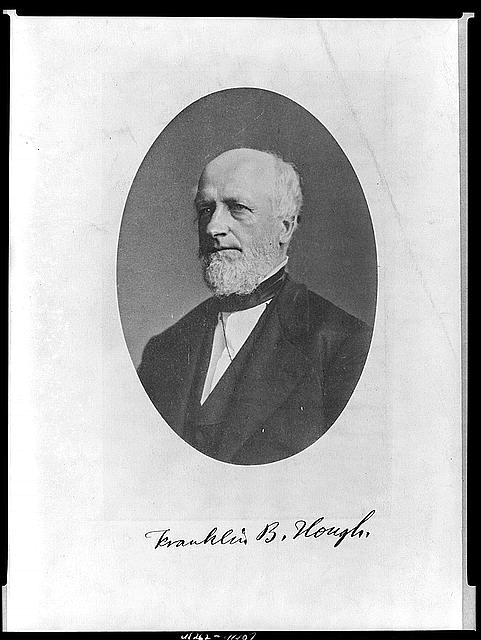 [Franklin B. Hough, head-and-shoulders portrait, facing left]