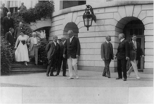 Wilson with members of the Democratic National Committee at the White House, Aug., 1916