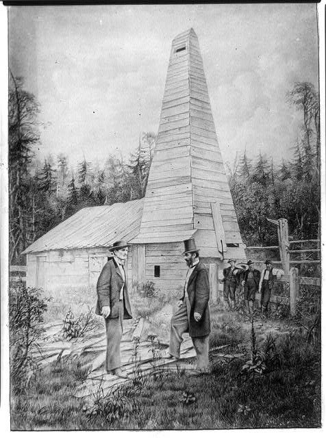 The first oil well