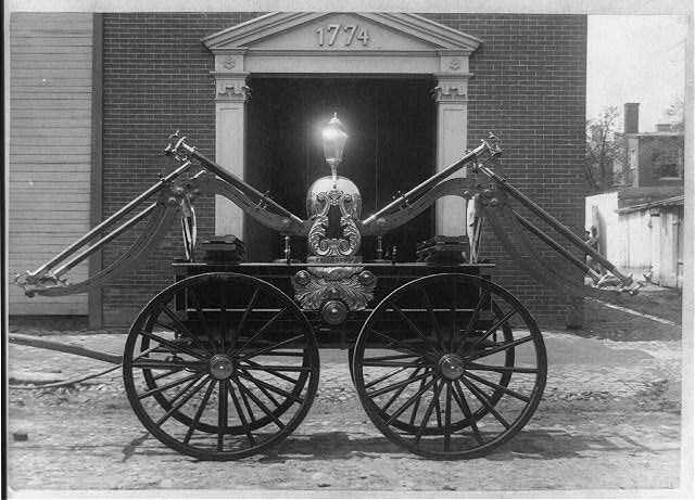 Fire engine, 1775, of the Friendship Fire Company, Alexandria, Va. 1889