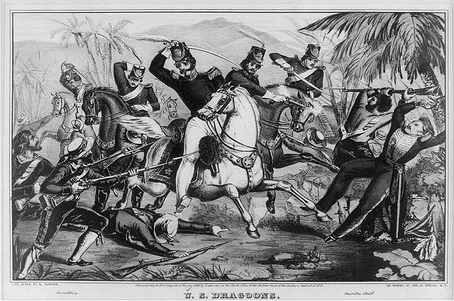 U.S. dragoons: cutting their way through a Mexican ambuscade